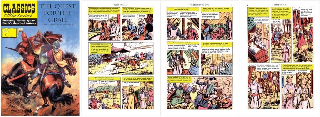 Omslag och inledande sidor ur Classics Illustrated (JES) No. 7. ©JES