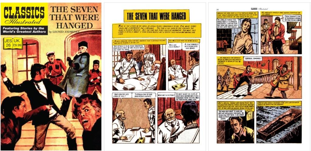 Omslag och inledande sidor ur Classics Illustrated (JES) No. 26. ©JES