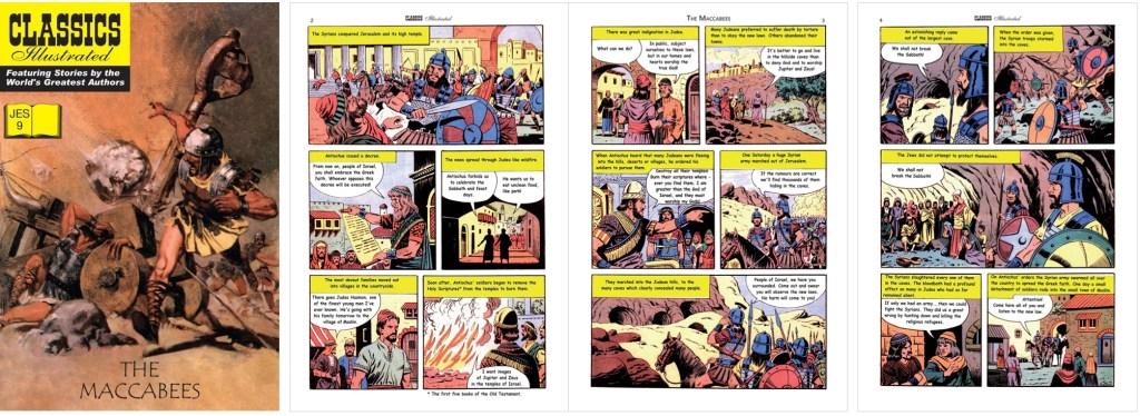 Omslag och inledande sidor ur Classics Illustrated (JES) No. 9. ©JES