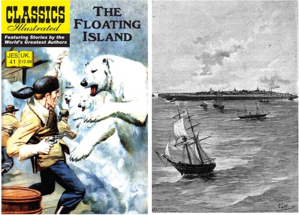 Omslag till Classics Illustrated (JES) No. 45, och en illustration ur förlagan från 1895. ©JES