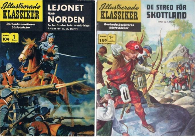 Omslag till Illustrerade klassiker 104 och 159. ©IK/Gilberton/T&P