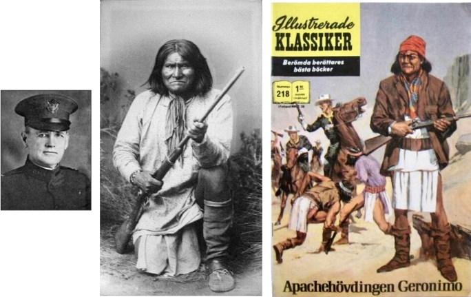 S. M. Barrett, Geronimo, och omslag till Illustrerade klassiker 218. ©Williams