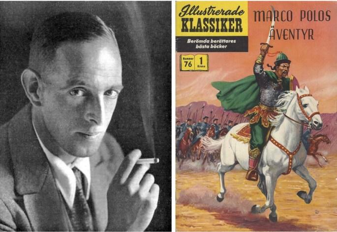 Donn Byrne, och omslag till Illustrerade klassiker 76. ©IK/Gilberton