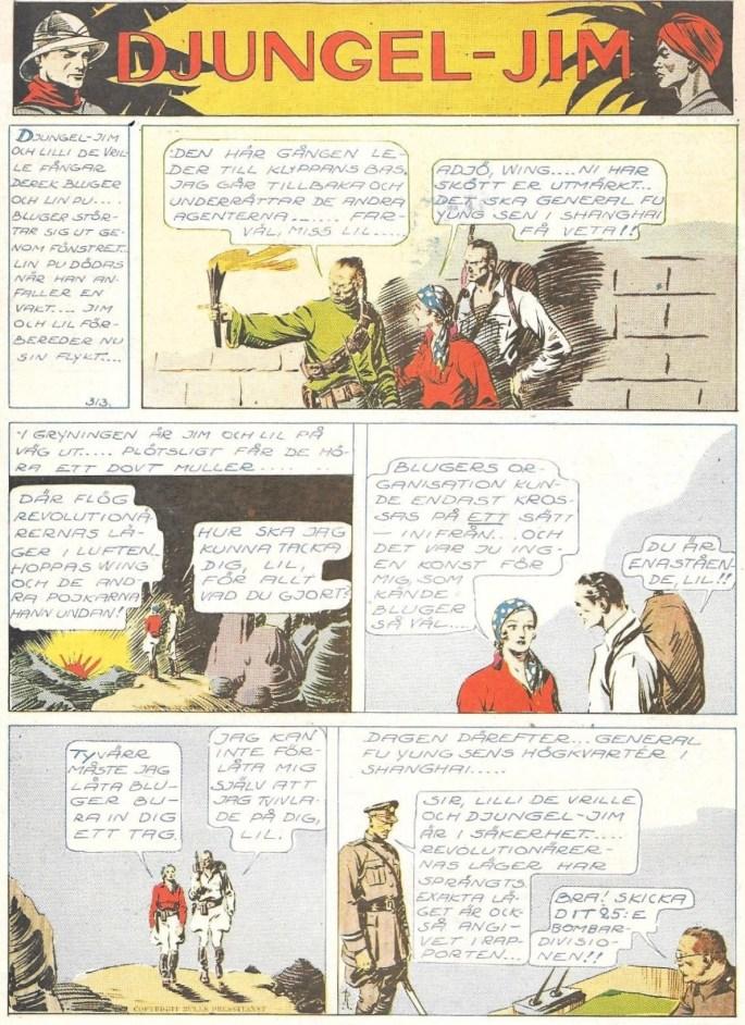 Djungel-Jim ur Veckans Äventyr, nr 33, 1946. ©Bulls