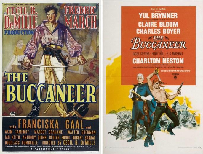 Filmaffischer från 1938 och 1958. ©Paramount