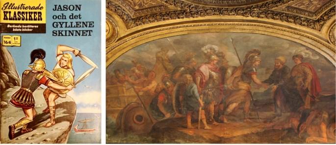 Omslag till illustrerade klassiker 164, och Jason och argonauterna anländer till Colchis, en målning av Charles de La Fosse, i Château de Versailles. ©IK/T&P