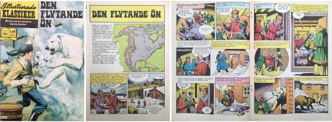 Omslag, förstasida och mittuppslag ur Illustrerade klassiker nr 225. ©Williams