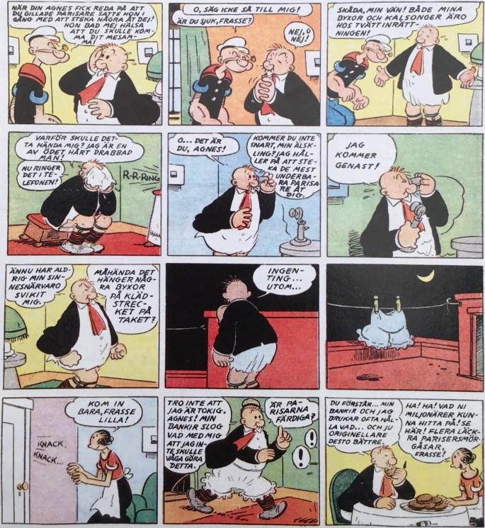 Serien Karl-Alfred inledde serietidningen Karl-Alfred med en stripp ur söndagsserien, redan på förstasidan. ©Bulls