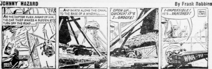 Dagsstripp i original från 12 november 1955. ©KFS
