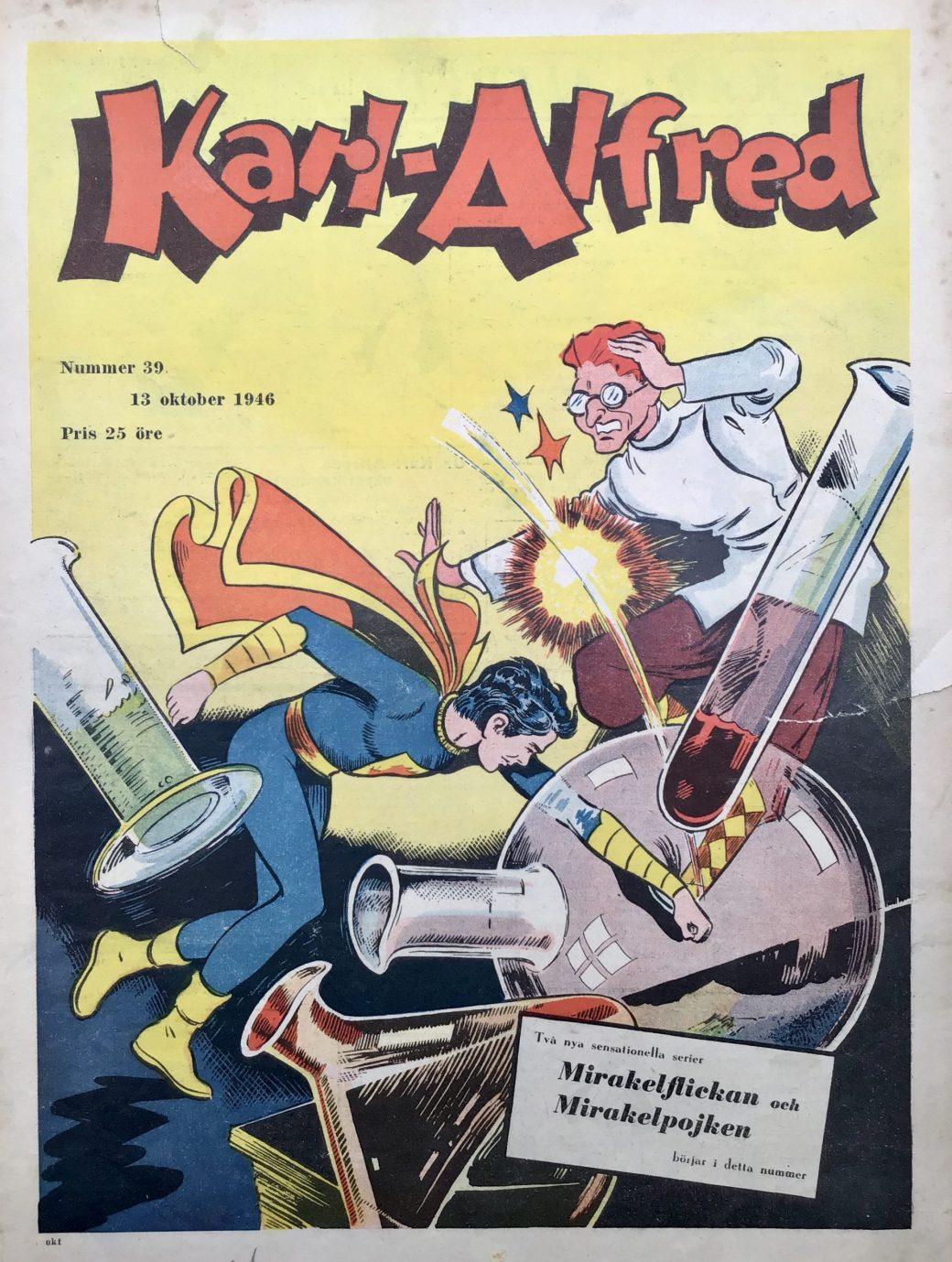 Omslaget till Karl-Alfred nr 39, 1946. ©Aller