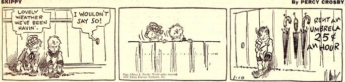 En dagsstripp med Skippy från 10 januari 1939. ©KFS
