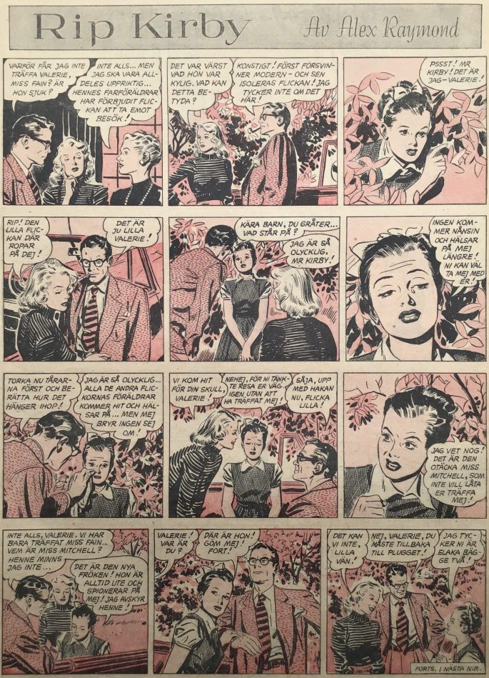 Sidan med Rip Kirby i Karl-Alfred nr 51, 1951. ©Bulls