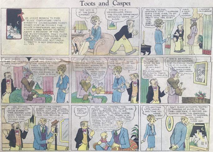 En söndagsstripp med Toots and Casper från 27 januari 1921. ©KFS