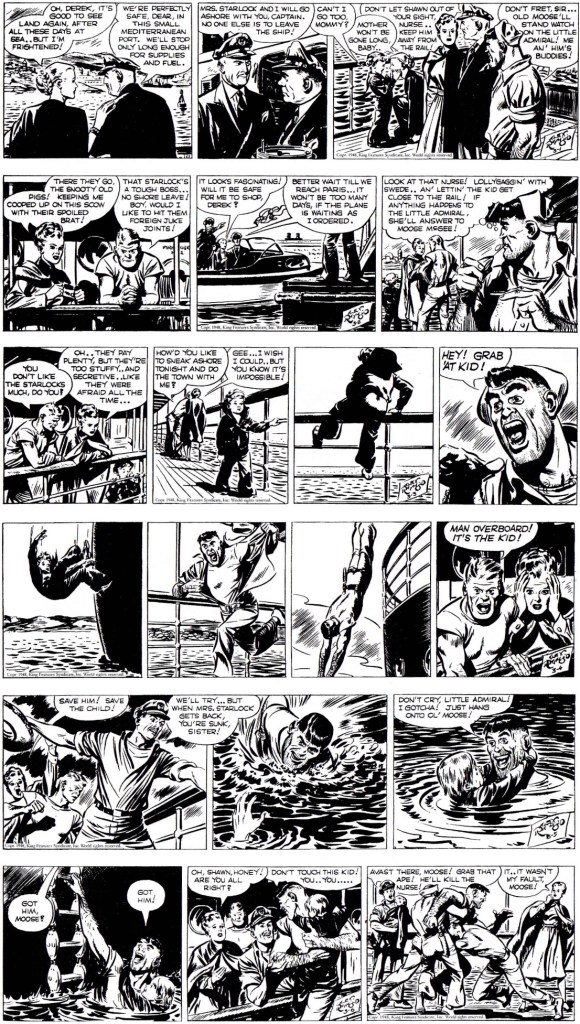 Inledningen på episoden Bleak Prospects - Part 2 i original från 1-6 mars 1948. ©KFS