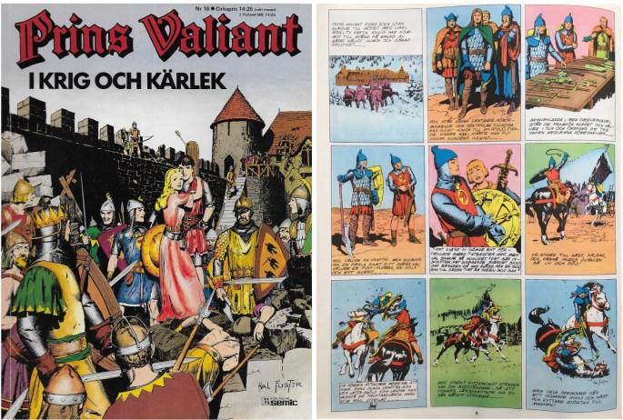 Motsvarande sida i seriealbumet Prins Valiant nr 16 från Semic. ©Bulls