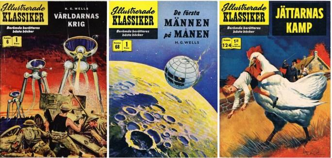 Omslag till Illustrerade klassiker nr 6, 68 och 124. ©IK/Gilberton