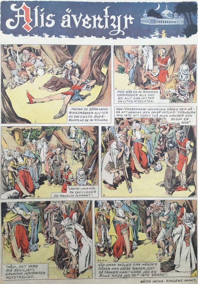 Alis äventyr, ur Karl-Alfred nr 6, 1946.