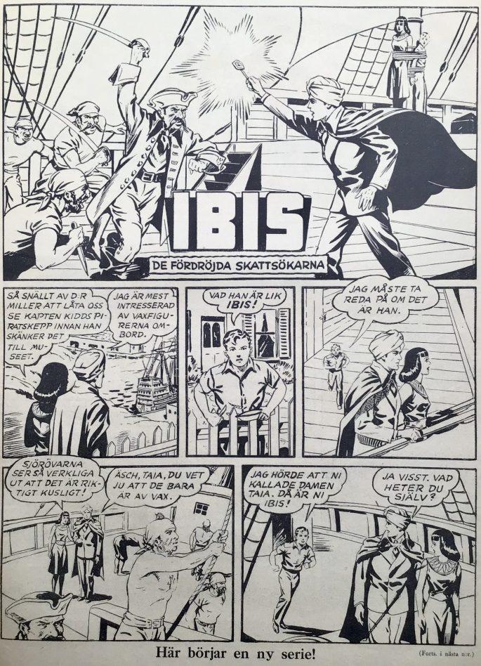 Första sidan med Ibis ur Karl-Alfred nr 41, 1946. ©Fawcett