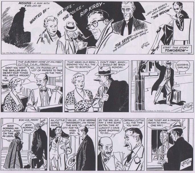 Början på episoden Unlucky Seven i original från 25-27 december 1950. ©KFS