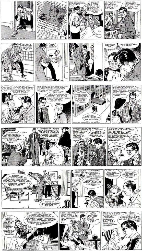 Motsvarande strippar i original från 4-9 mars 1946. ©KFS
