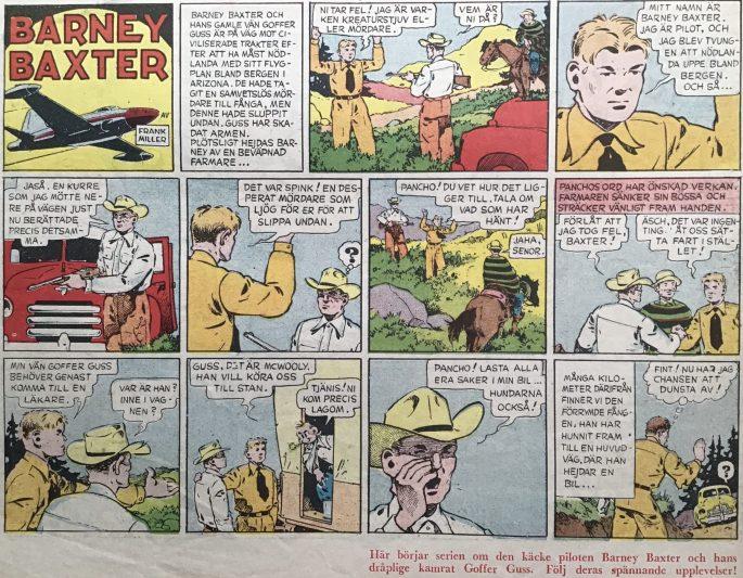Barney Baxter tillkom som serie i Karl-Alfred nr 13, 1950. ©Bulls
