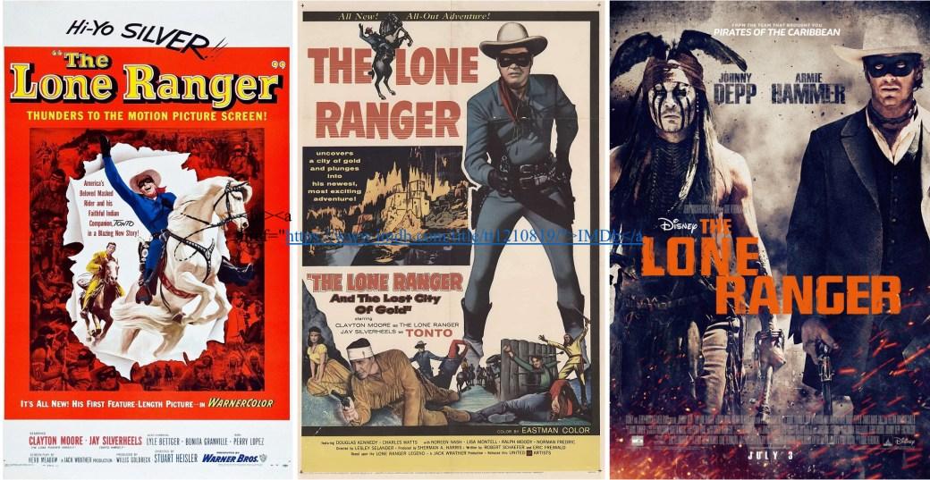 Filmaffischer från 1956, 1958 och 2013 ©Warner/UA/Disney
