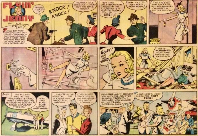 En söndagssida med Flyin' Jenny av Russel Keaton från 24 mars, 1940. ©Bell