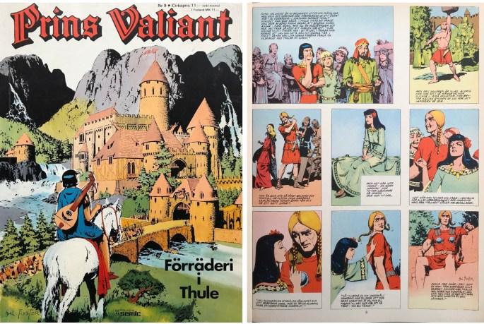 Motsvarande sida i seriealbumet Prins Valiant nr 9 från Semic. ©Bulls