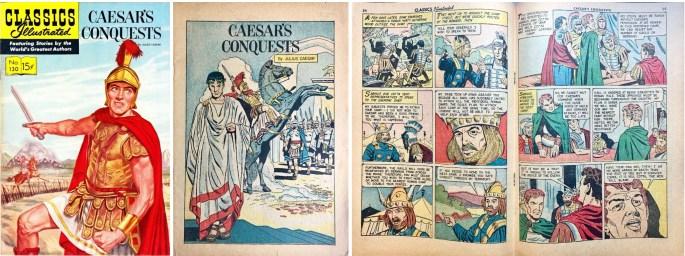 Omslag, förstasida och mittuppslag, ur CI #130 (1956). ©Gilberton