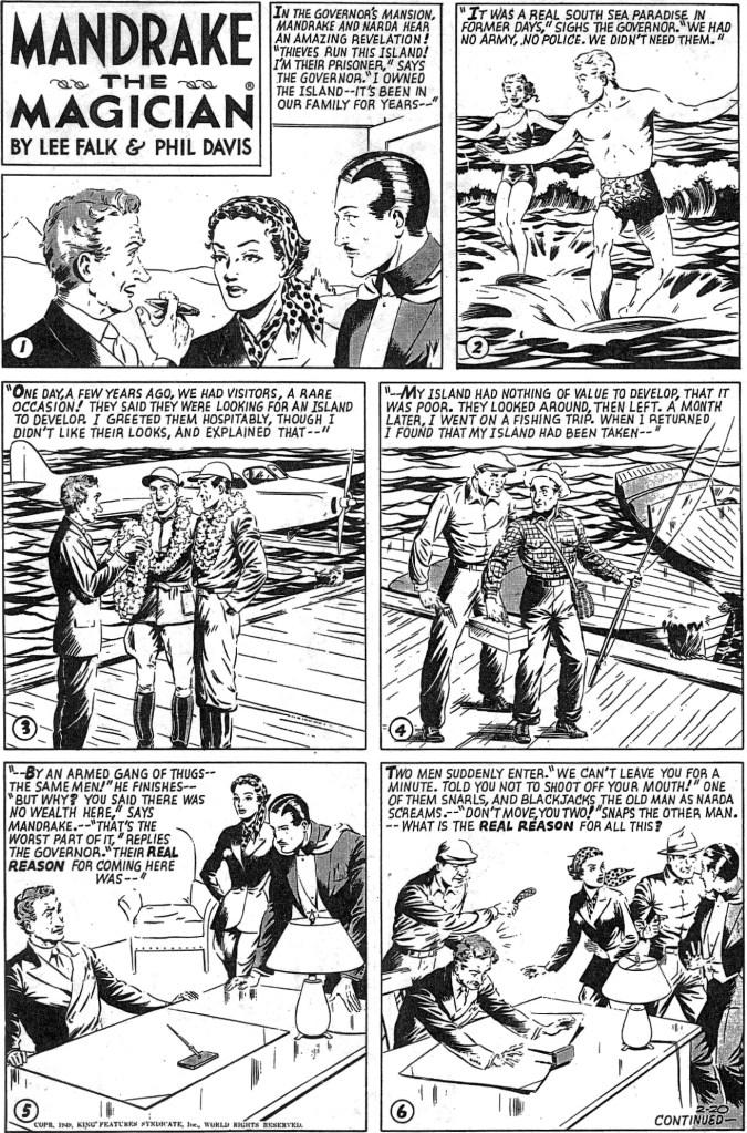 Motsvarande söndagssida i original från 20 februari 1949. ©KFS