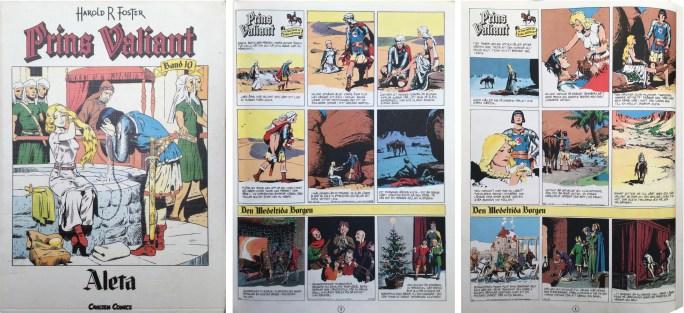 Motsvarande sidor som i Karl-Alfred nr 3/47 i seriealbumet Prins Valiant band 10 från Carlsen. ©Bulls
