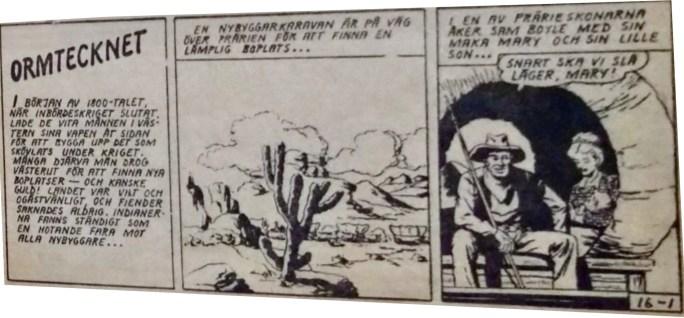Inledningen av Kinowa, ur Prärieserier nr 16, 1954. ©Dardo