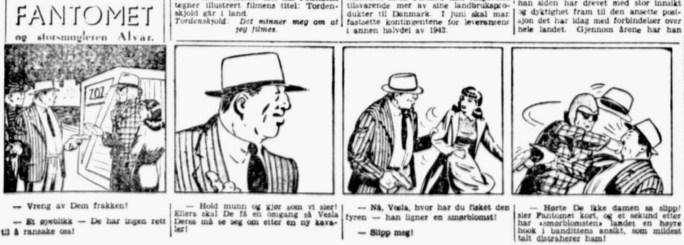 Fantomet ur Aftenposten den 4 april 1942. ©Bulls