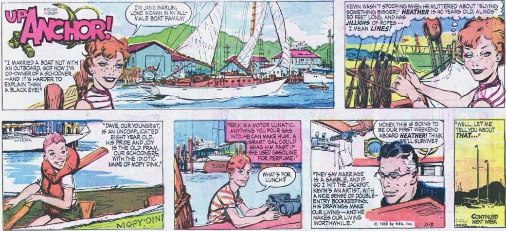 En söndagsstripp med Up Anchor från 3 november 1968. ©NEA