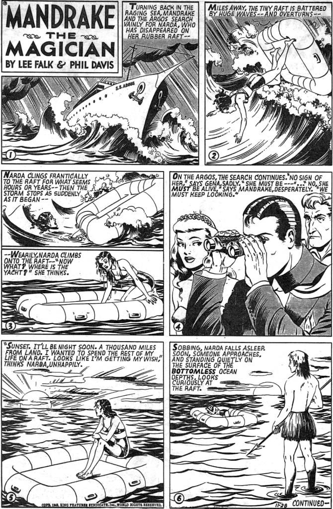 Motsvarande söndagssida i original från 28 november 1948. ©KFS