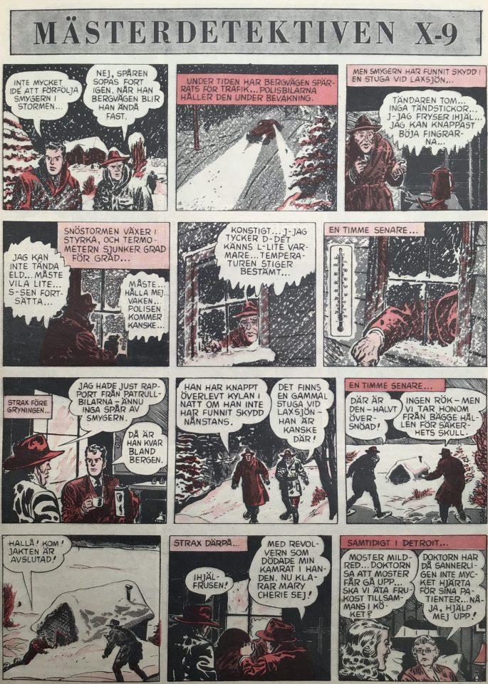 Avslutningen på Who Killed the G-Man ur Karl-Alfred nr 18, 1952. ©Bulls