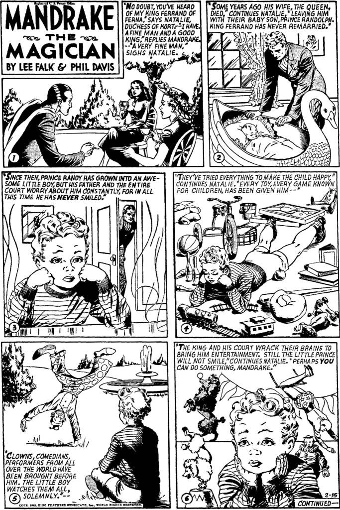 Motsvarande söndagssida i original från 15 februari 1948. ©KFS