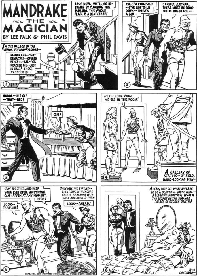 Motsvarande söndagssida i original från 11 februari 1951. ©KFS