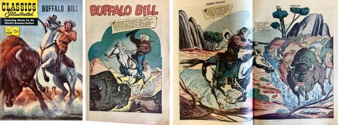Omslag, förstasida och mittuppslag ur CI #106 (1953). ©Gilberton