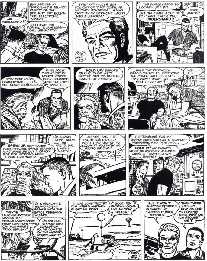Motsvarande dagsstrippar i original från 24-27 mars, 1960. ©Adams