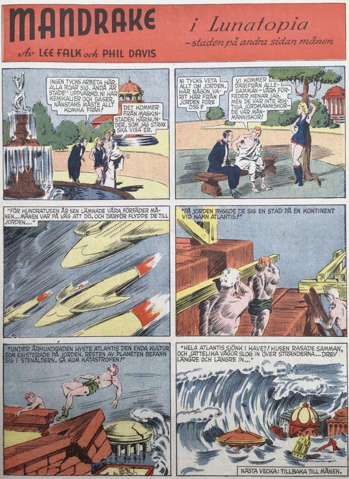 En sida med Mandrake ur Karl-Alfred nr 39, 1947. ©Bulls