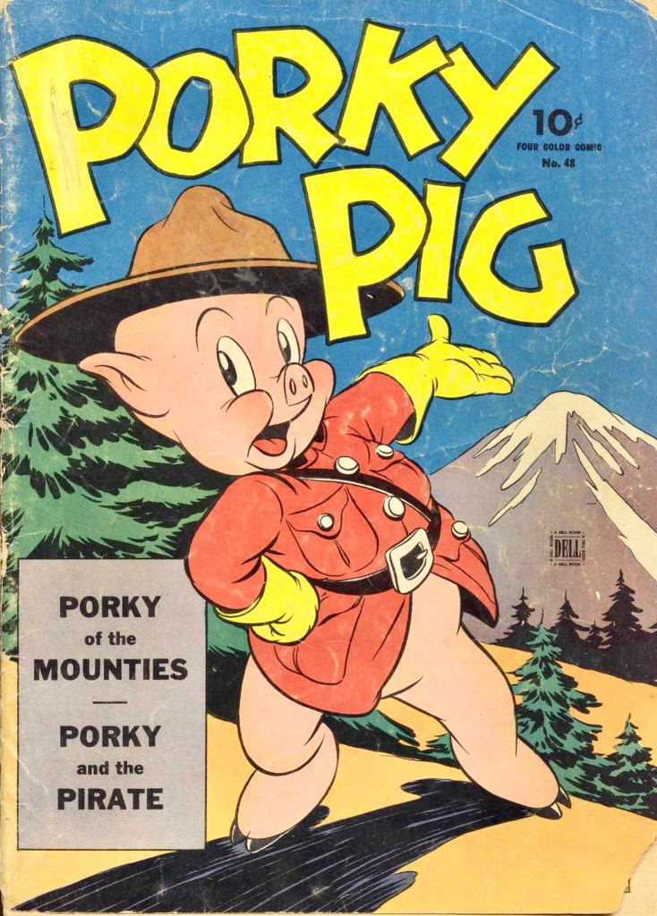 Omslag till Porky Pig (Four Color) #48. ©Dell