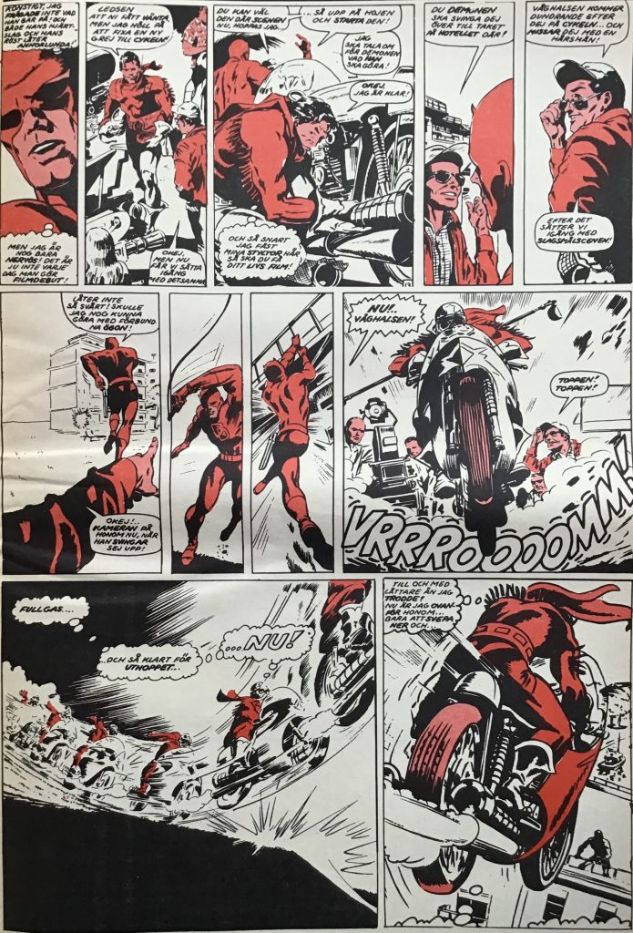 En sida ur Serie-Pressen nr 4, 1971. ©Marvel