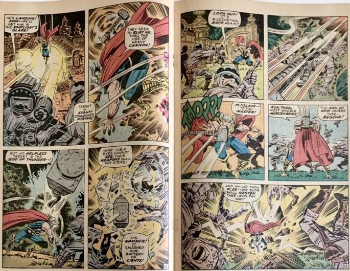 Ett uppslag ur Thor #172 (1970). ©Marvel