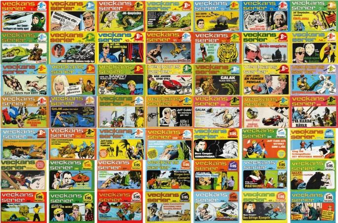 Totalt utkom 49 utgåvor av Veckans serier, 47 nr 1972, ett nr 1973 och ett extranummer i Fantomen nr 20/72. ©Semic