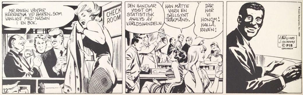 Danny Raven blir introducerad i serien Toppreportrarna från 23 november 1968, ur Comics nr 1. ©PIB