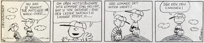 En dagsstripp från 26 april 1969, ur Comics nr 1. ©Europa Press