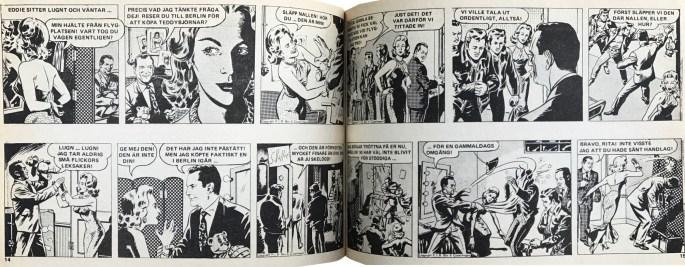 Ett uppslag ur Veckans serier nr 45, 1972. ©PIB