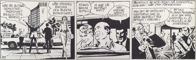 En dagsstripp från 8 december 1968, ur Comics nr 1. ©PIB