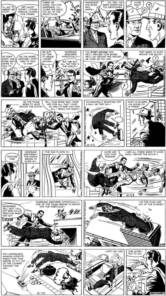 Dagsstrippar i original från 20-25 oktober 1959. ©KFS